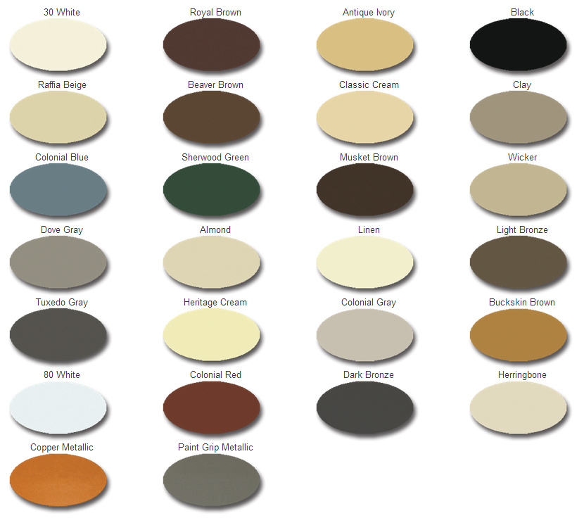 Color Charts Gutter King Of North Florida