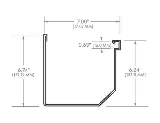 &inch box gutter diagram